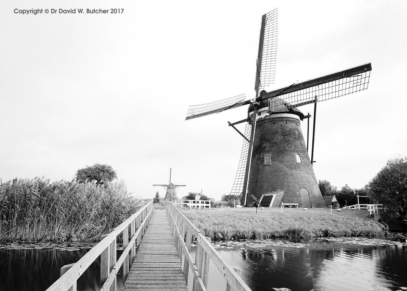 Kinderdijk Windmills and Bridge, Rotterdam, Netherlands