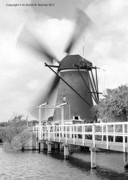 Kinderdijk Windmill in Action, Rotterdam, Netherlands