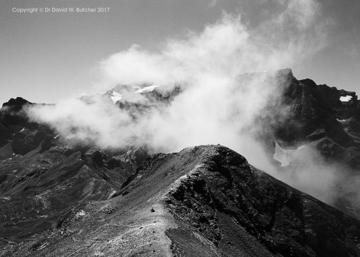 Clouds on Monte Perdido from Pimene, near Gavarnie, Pyrenees, France