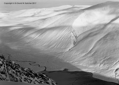 Braeriach from Sgorr Gaoith in Winter, Cairngorms, Aviemore, Scotland