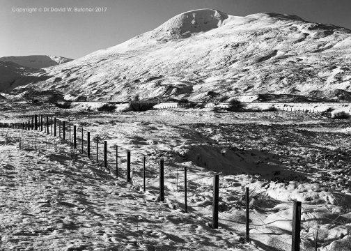 A'Mharconaich in Snow, Drumochter, Dalwhinnie, Scotland