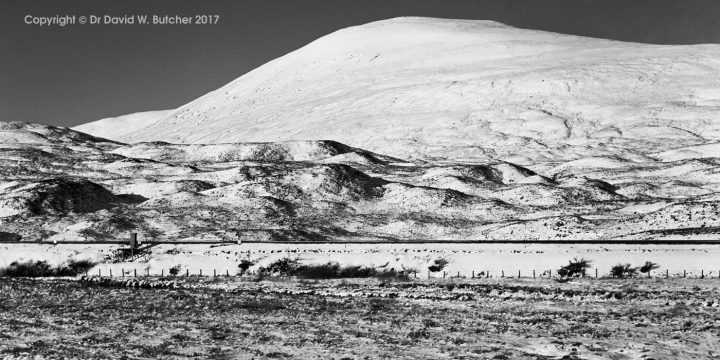 Drumochter Geal Charn in Snow, Dalwhinnie, Scotland