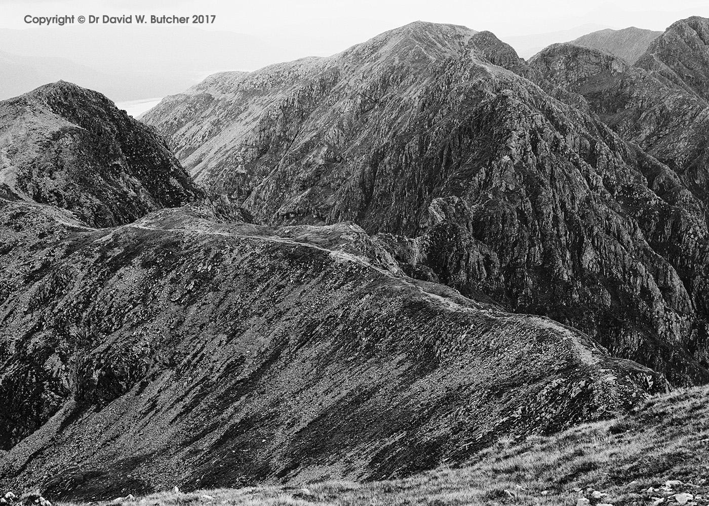 Aonach Eagach Ridge, Glen Coe, Scotland