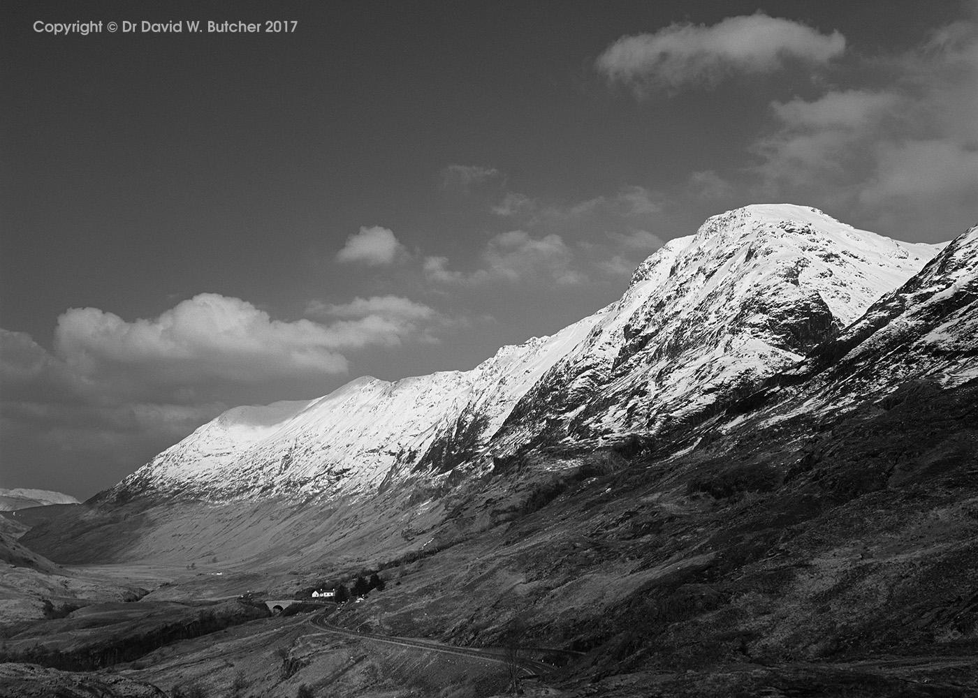 Aonach Eagach from Glen Coe, Scotland