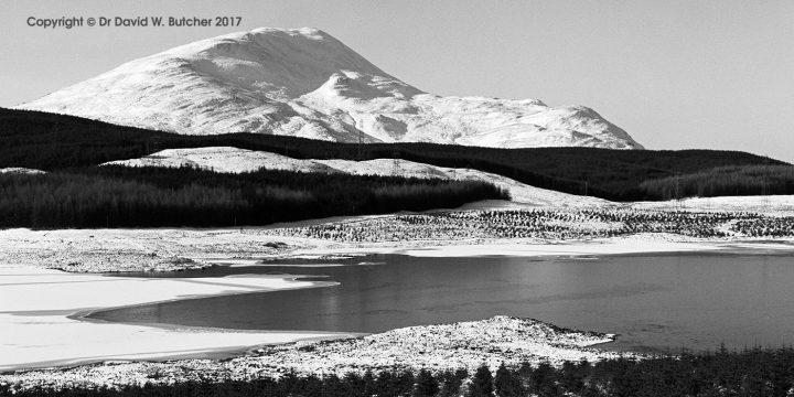Schiehallion and Loch Kinardochy in Winter, Scotland