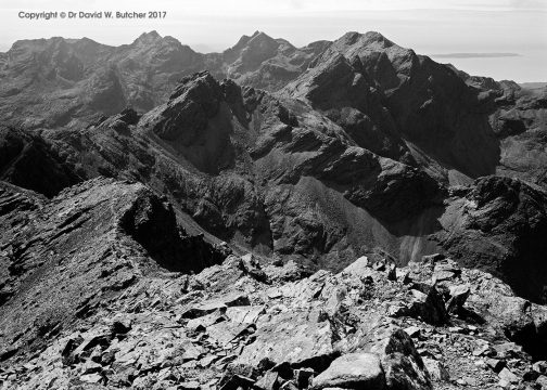 Black Cuillin Ridge from Bruach na Frith, Skye, Scotland
