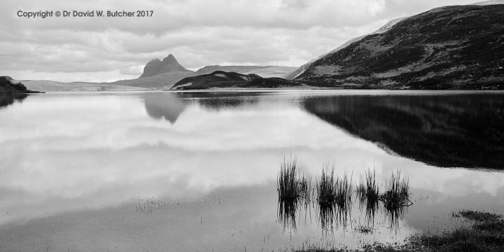 Suilven Reflection in Cam Loch, Sutherland, Scotland