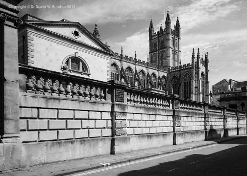 Bath Cathedral and Roman Baths, England