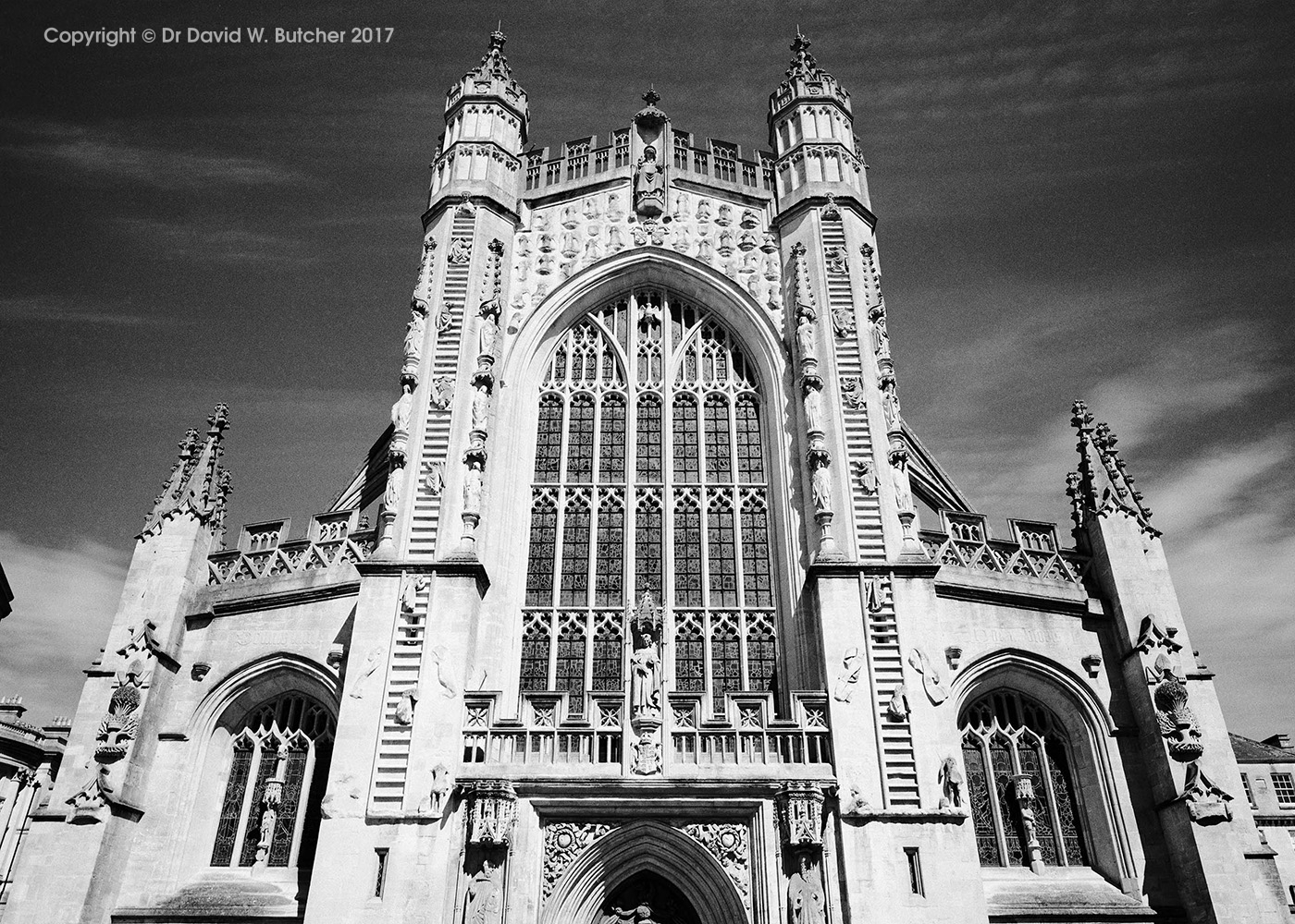 Bath Cathedral Front, England
