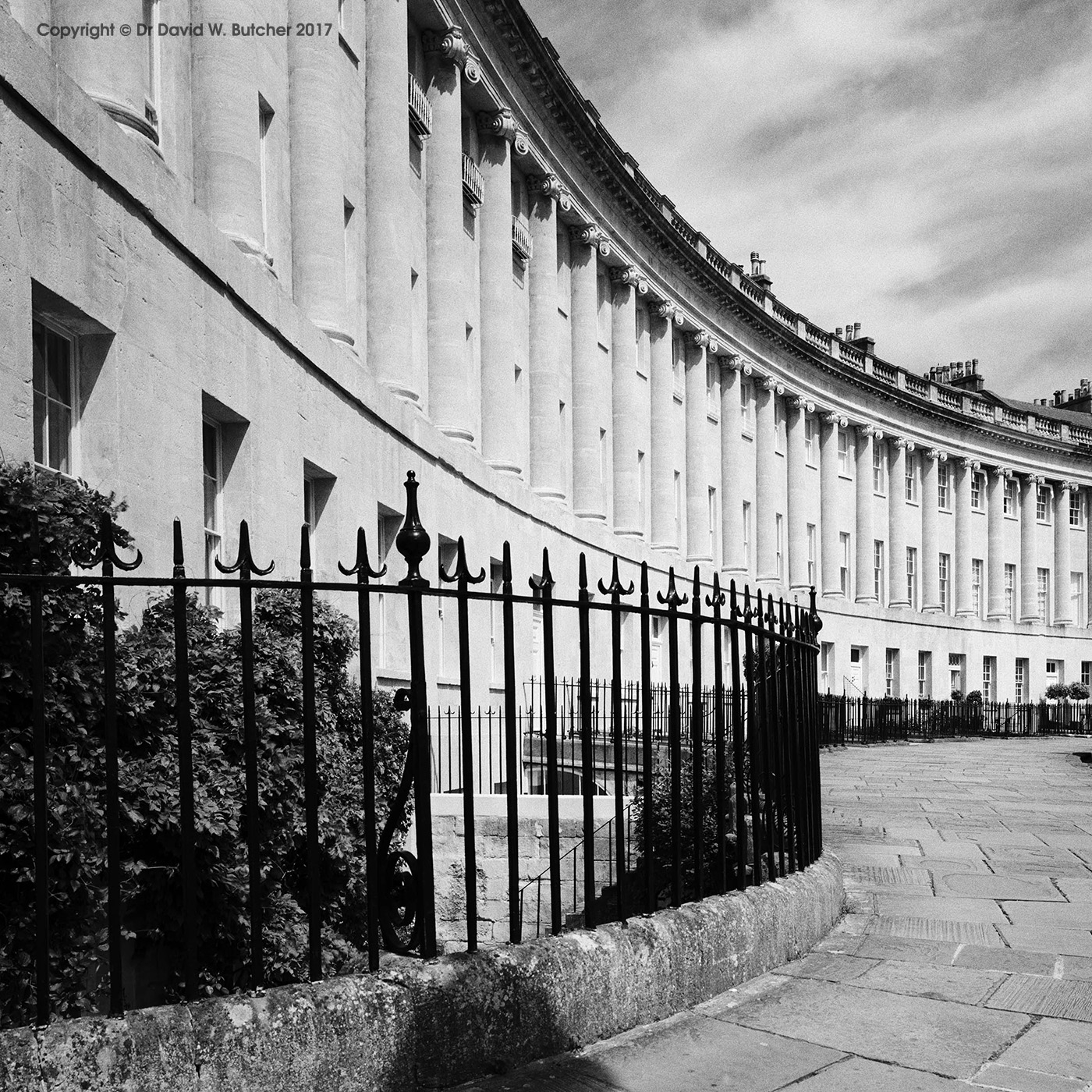 Bath Crescent and Railings, England