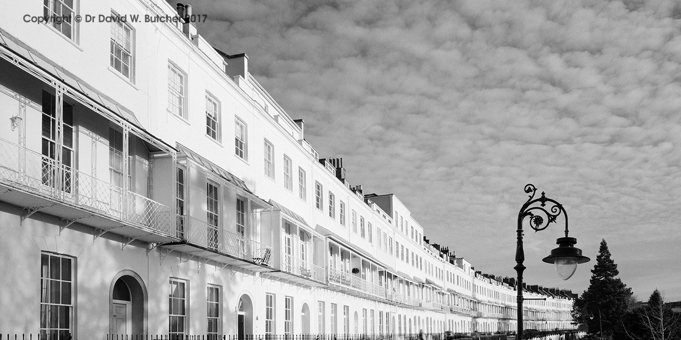Bristol Clifton Royal York Crescent, panoramic, England