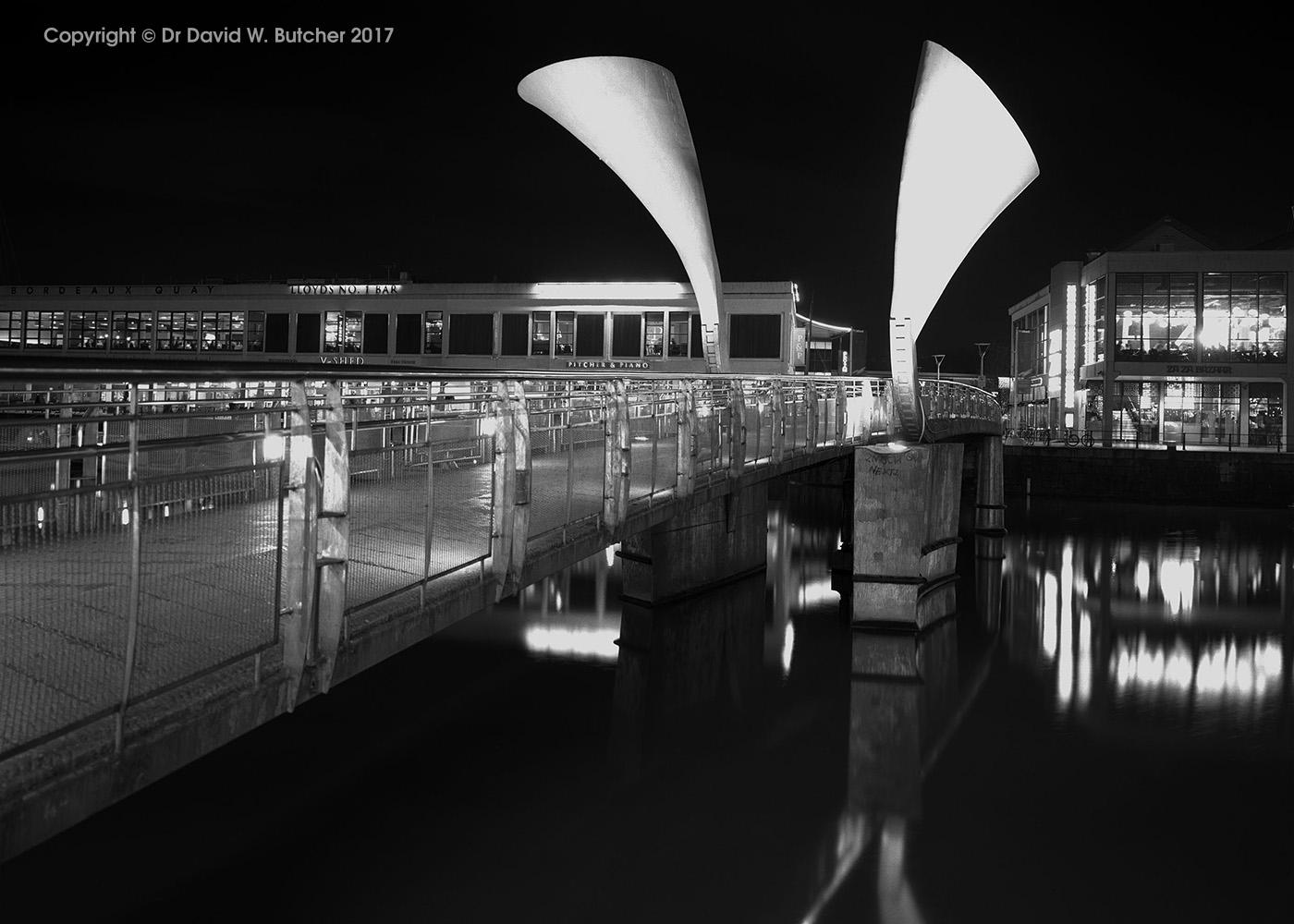 Bristol Harbour Pero's Bridge at Night, England