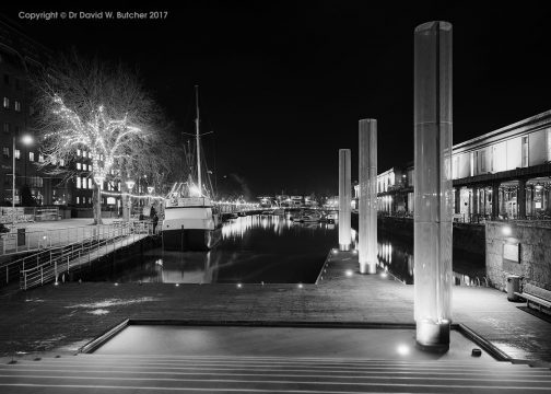 Bristol Waterfront at Night, England