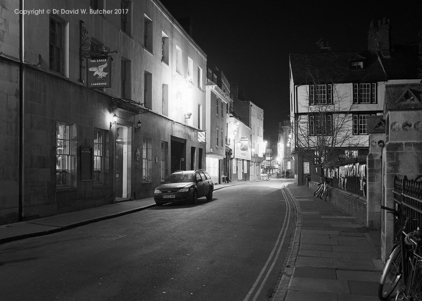 Cambridge Bene't Street at Night, England