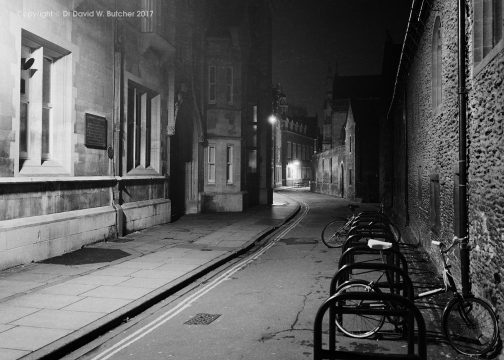 Cambridge Free School Lane at Night, England