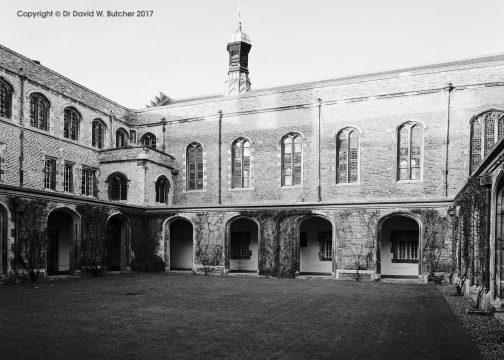Cambridge Jesus College Cloister Court, England