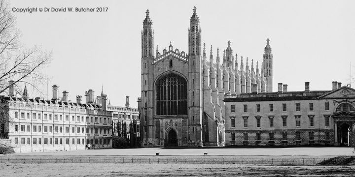 Cambridge Kings College Chapel from the Backs, England