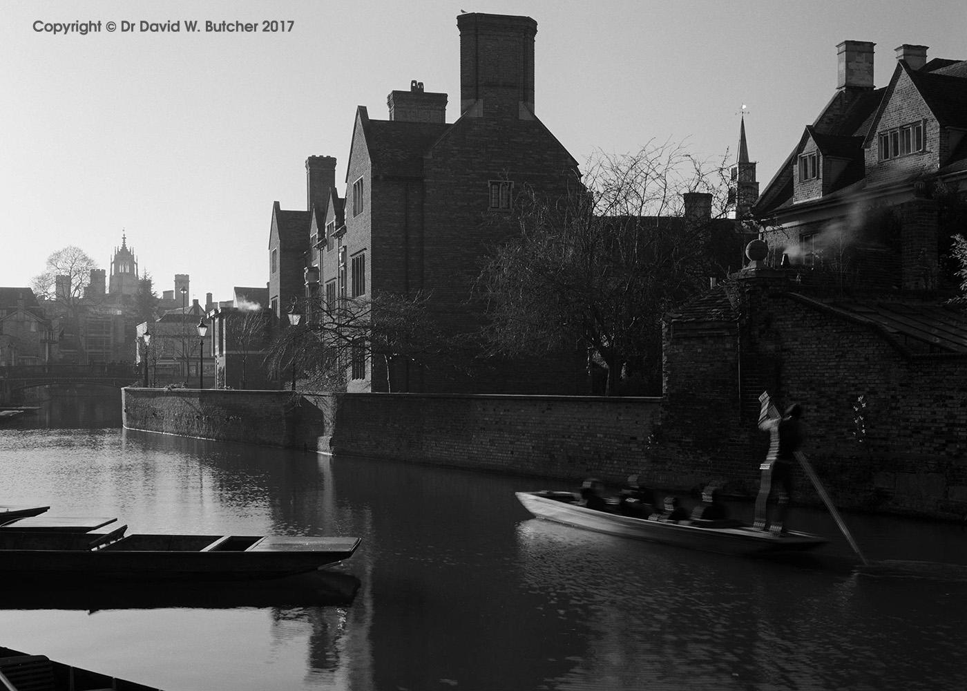 Cambridge Magdalene College Punt, England