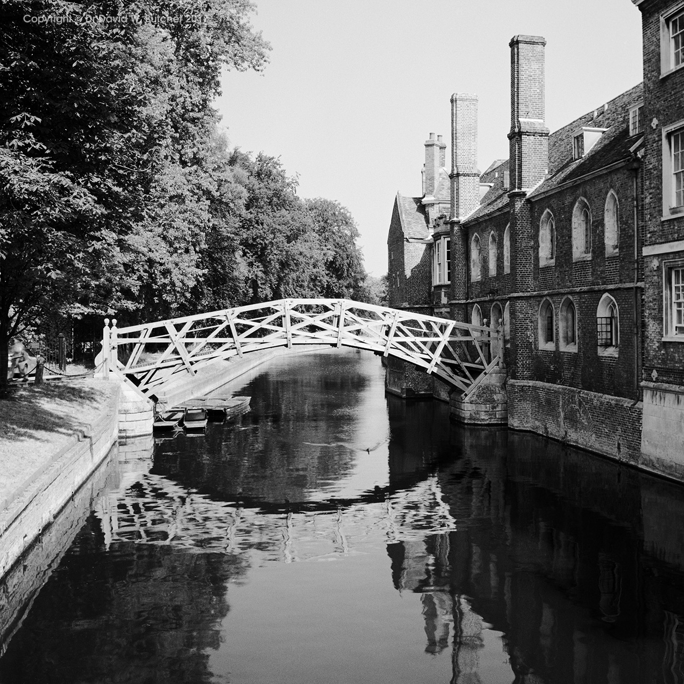 Cambridge Queens' College Mathematical Bridge Reflections, England