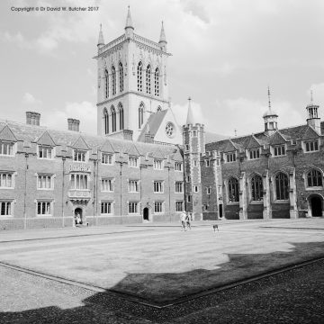 Cambridge St John's College Second Court and Chapel, England