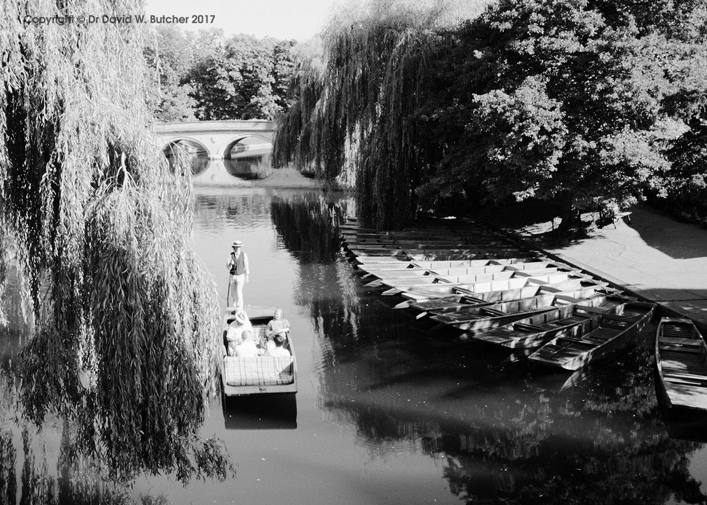 Trinity Bridge, Punt and River Cam Cambridge, England
