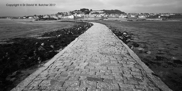 Marazion from St Michaels Mount Causeway, Cornwall, England