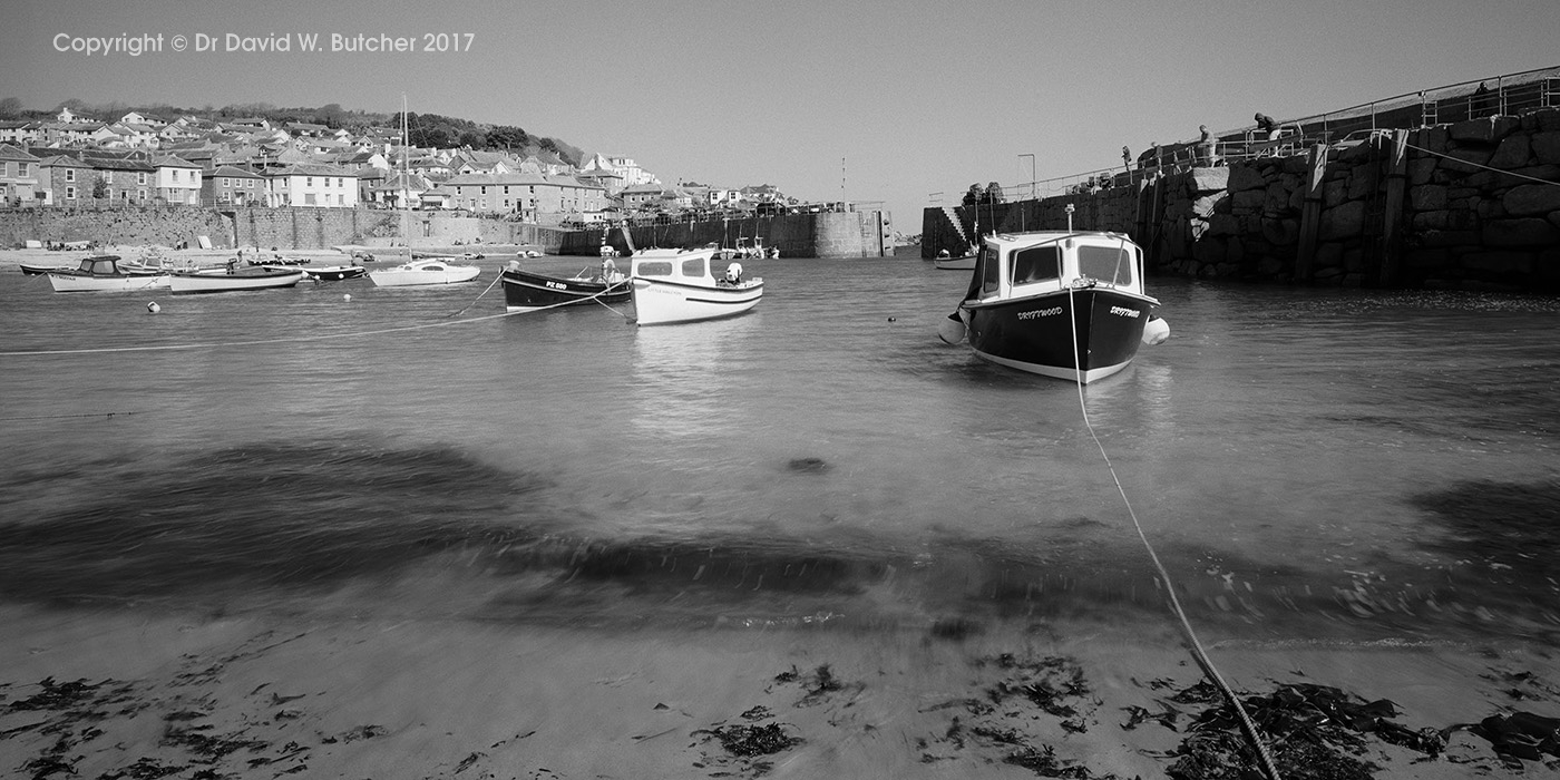 Mousehole Harbour from Beach, Cornwall, England