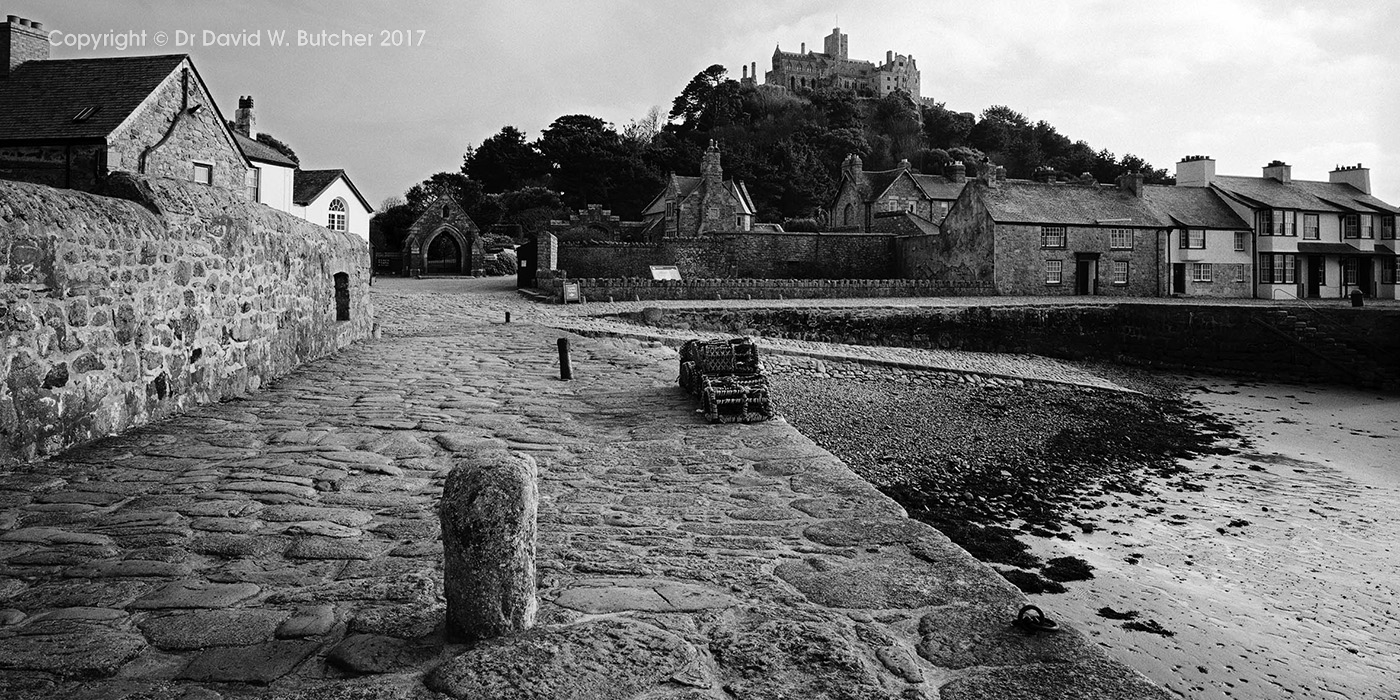 St Michaels Mount from the Harbour, Cornwall, England