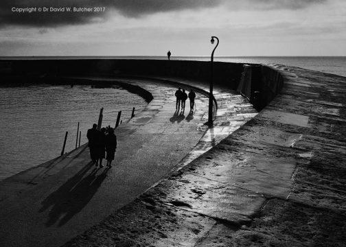 Cobb Shadows, Lyme Regis, Dorset, England