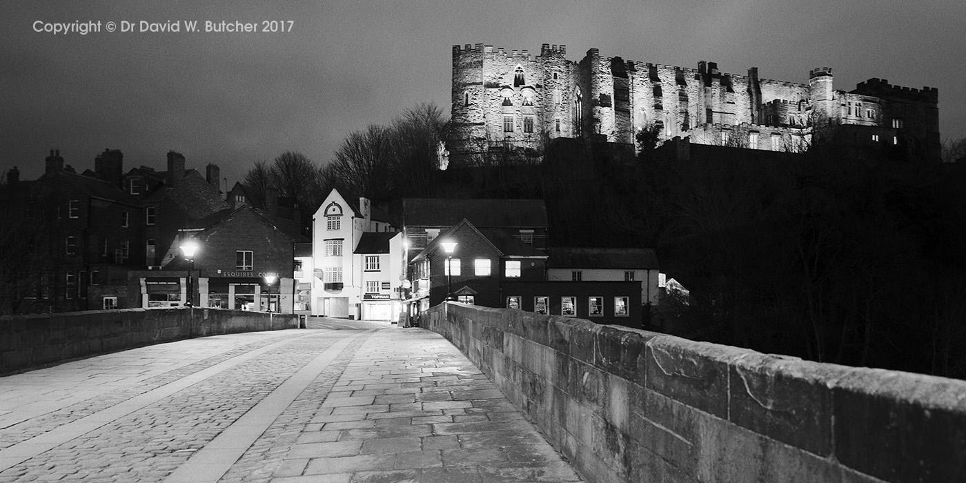 Durham Castle from Framwellgate Bridge, England