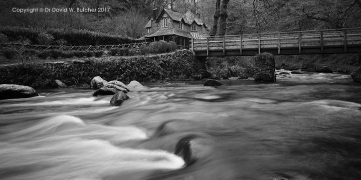 Watersmeet House and East Lyn River Bridge, near Lynmouth, Exmoor, England