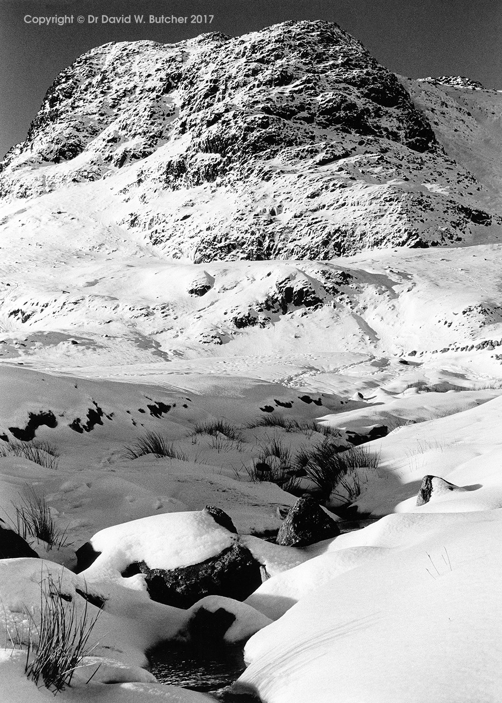 Harrison Stickle in Winter, Langdale, Lake District