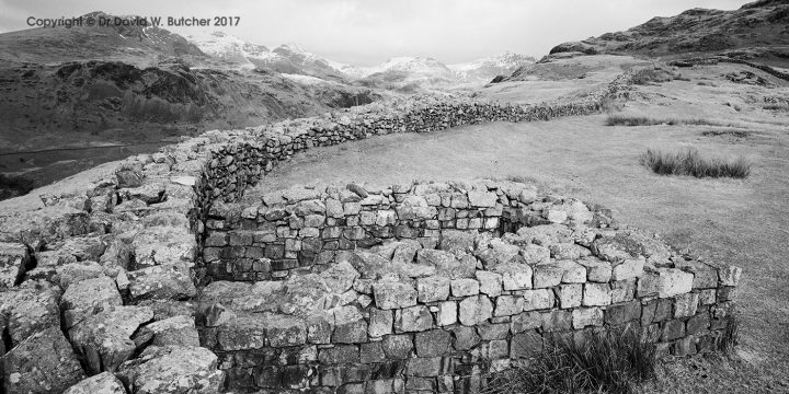 Scafell Range from Hardknott Roman Fort, Boot, Eskdale, Lake District