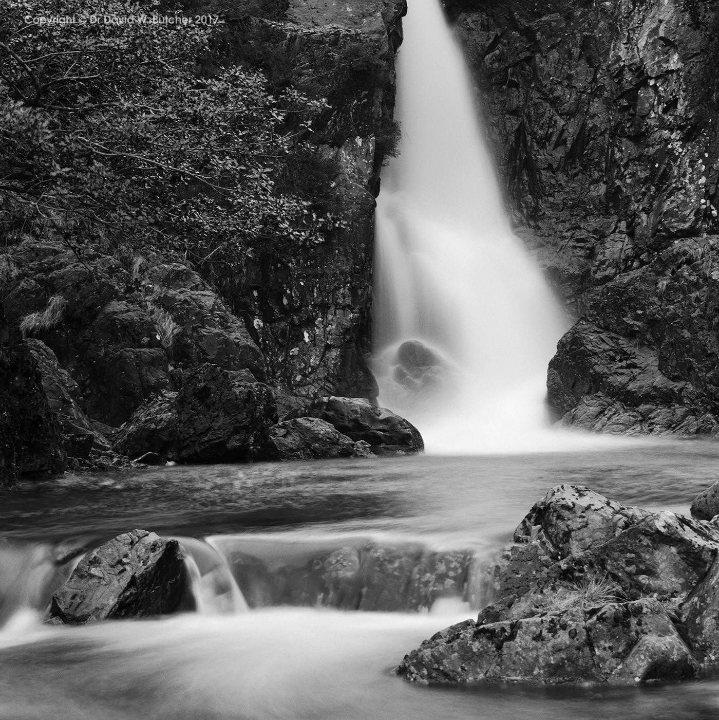 Eskdale Ling Cove Falls in Winter, Lake District