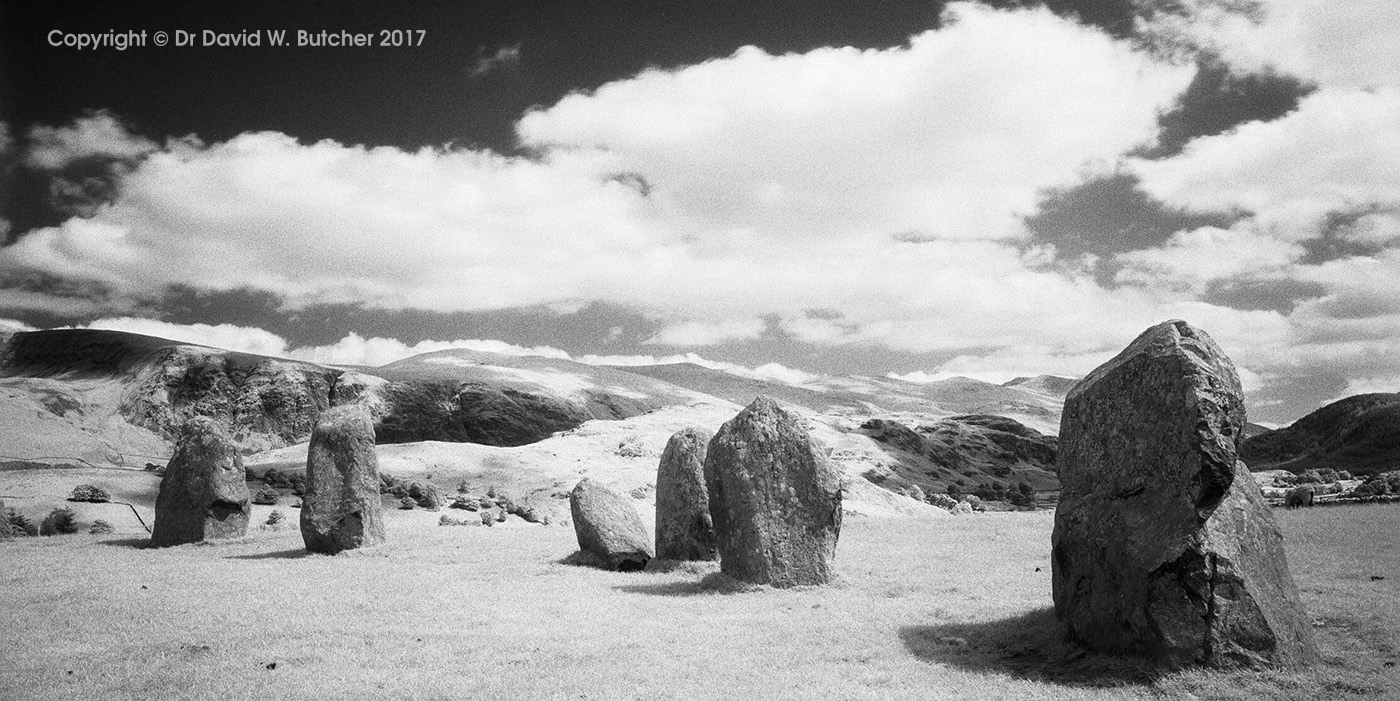 Helvellyn from Castlerigg Stone Circle infrared, Keswick, Lake District