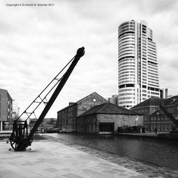 Leeds Granary Wharf Canal and Crane, England