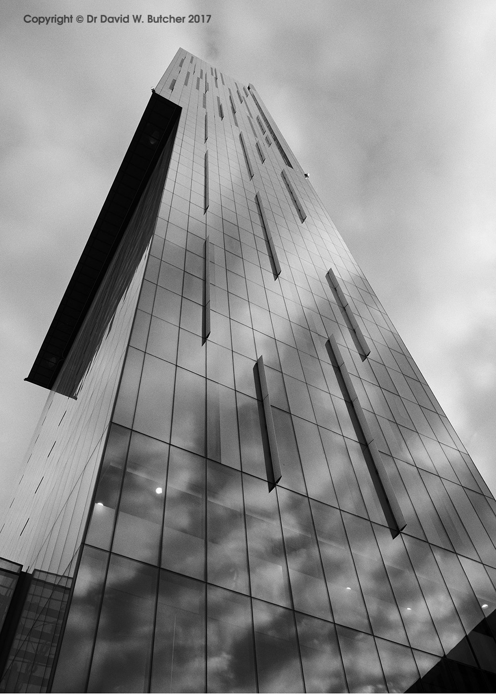 Manchester Beetham Tower Cloud Reflections, England