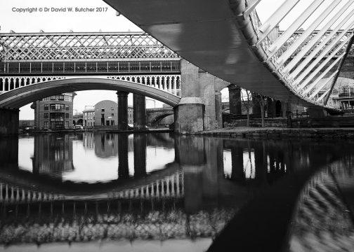 Manchester Castlefield Bridge Reflections, England