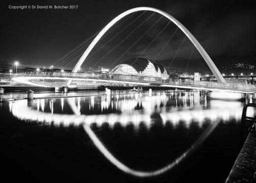 Millennium Bridge and Sage, Gateshead from Newcastle