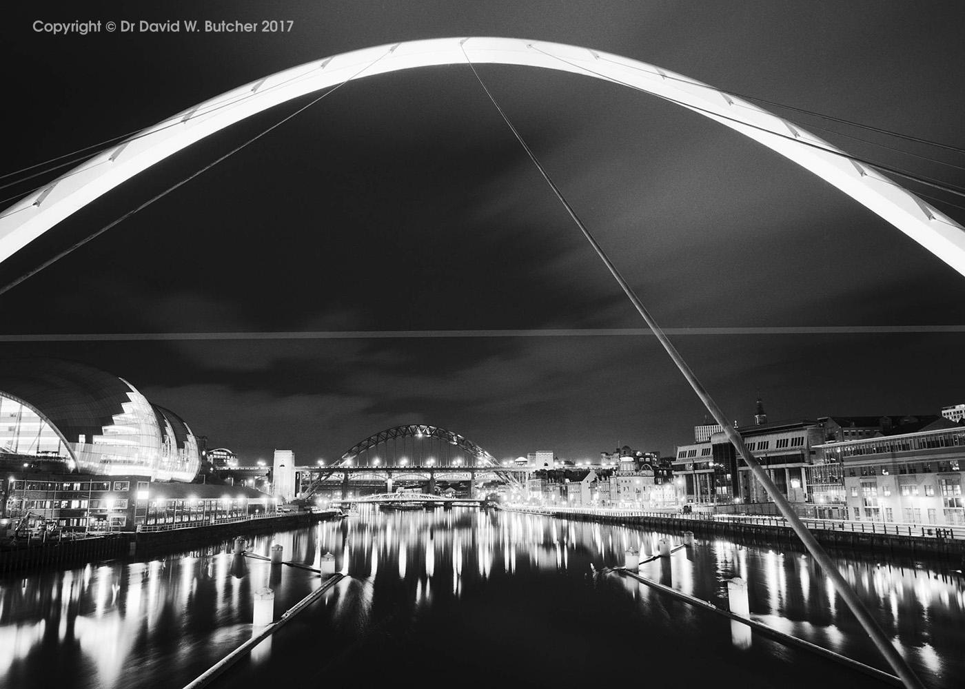 Newcastle Tyne Bridge from Gateshead Millennium Bridge