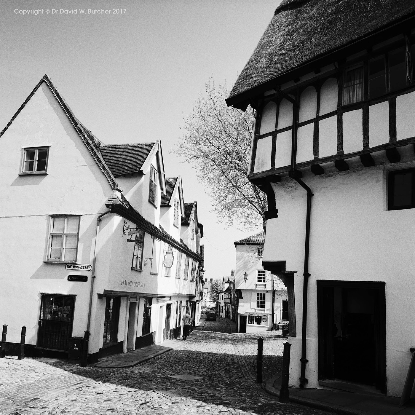 Elm Hill and Britons Arms, Norwich, Norfolk