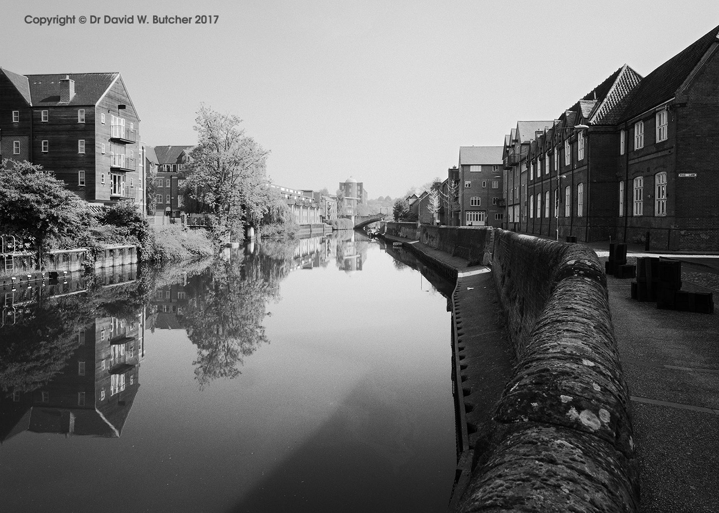 River Wensum Reflections from Quay Side Norwich, Norfolk