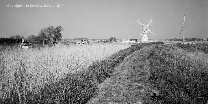 River Thurne and Windmill at Thurne, Norfolk