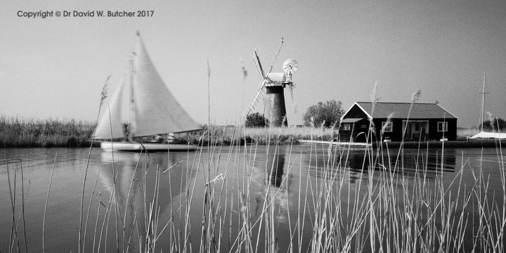 St Benet's Windmill and Yacht, Thurne, Norfolk