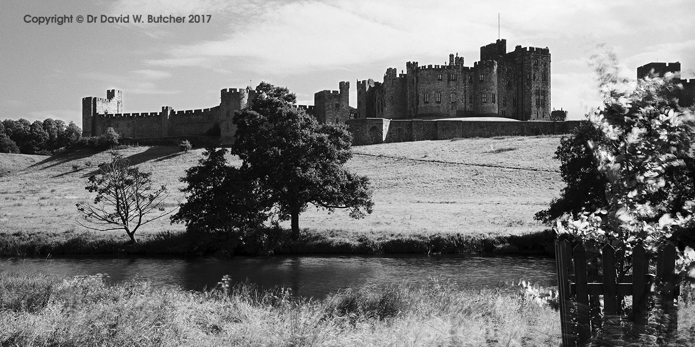Alnwick Castle and River Aln, Northumberland