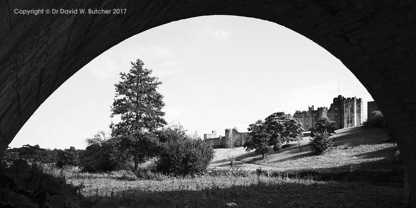 Alnwick Castle and Bridge Arch, Northumberland