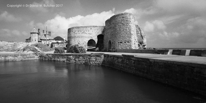 Beadnell Harbour and Lime Kilns at High Tide