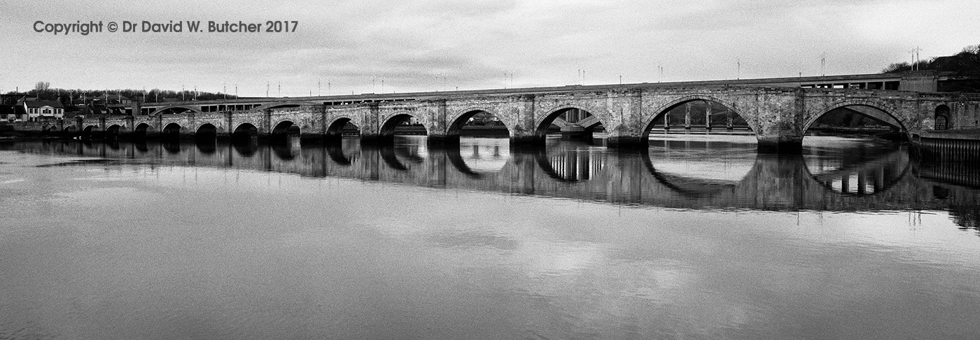 Berwick Old Bridge Reflections, Northumberland