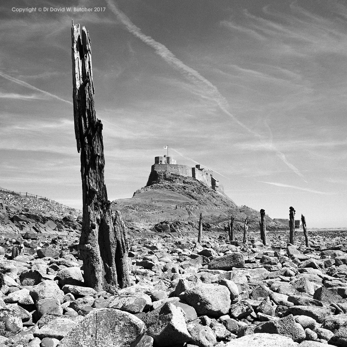 Lindisfarne Castle and Posts, Northumberland