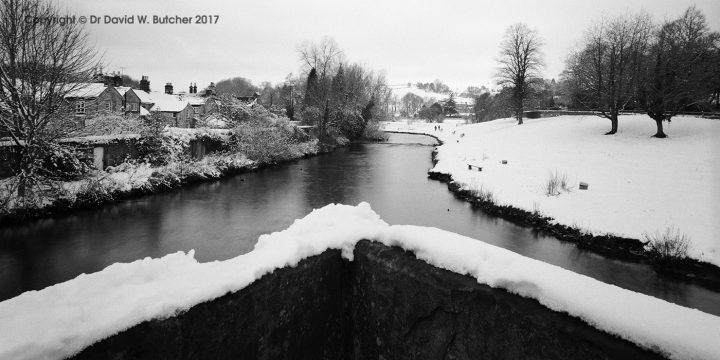 River Wye from Bakewell Bridge in Winter, Peak District
